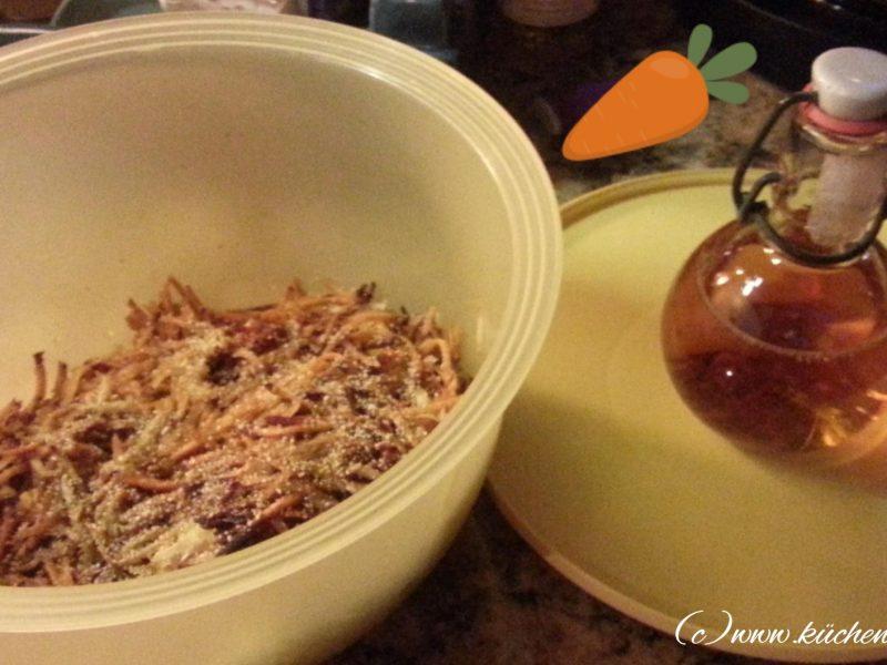 Karottensalat mit dem Foodprocessor