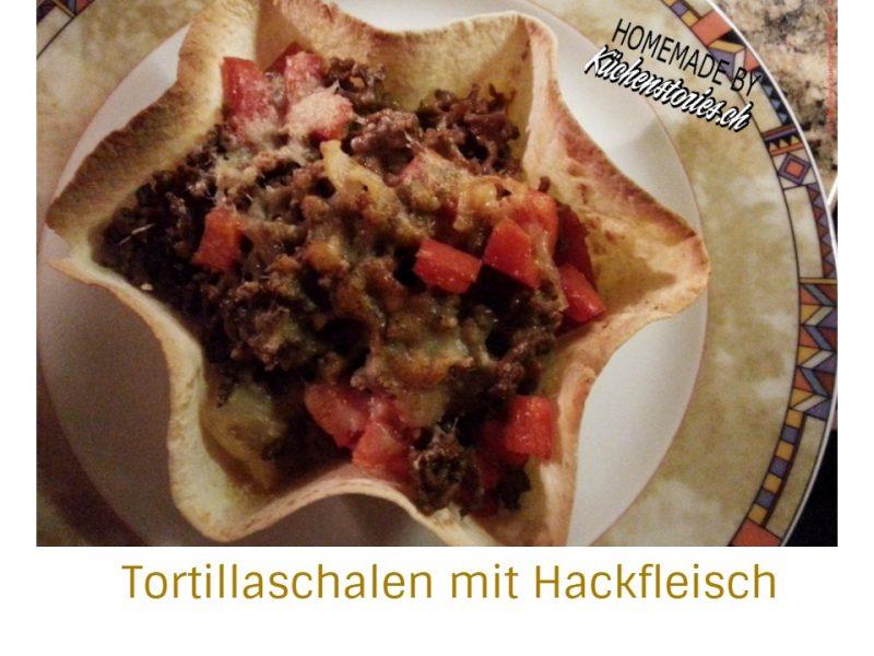 Tortillaschalen mit Hackfleisch