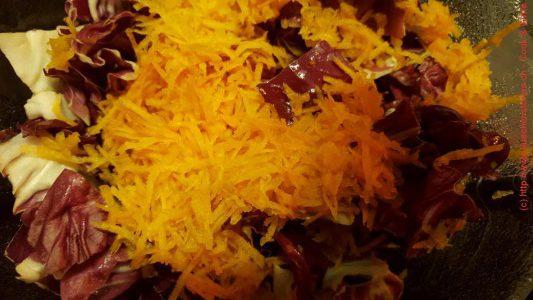 Radicchiosalat mit Karotten