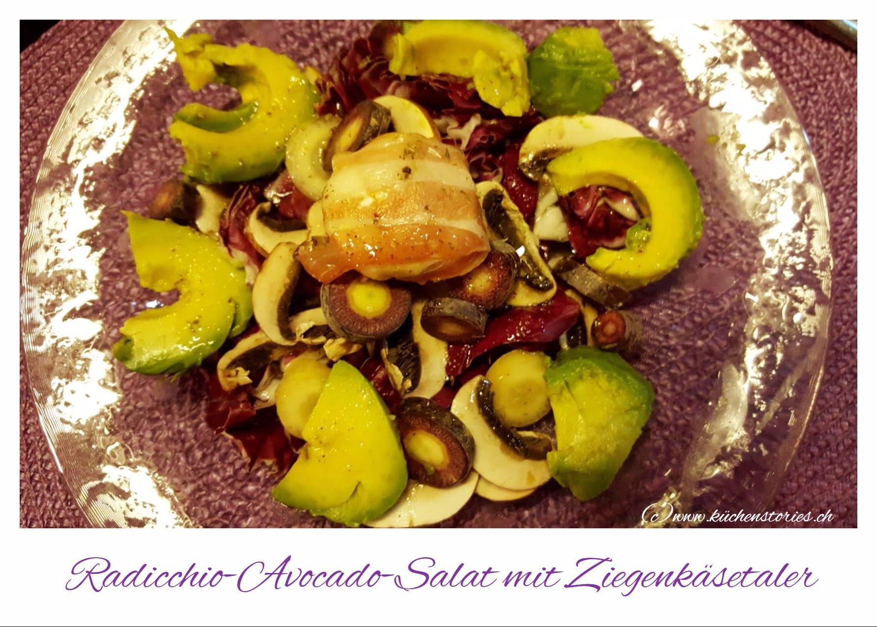 Radicchio Avocado Salat Mit Ziegenk 228 Setaler