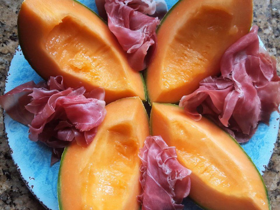 Rohschinken und Melone 1