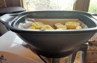 Zwiebelschnitzel mit Knoblauchkartoffeln aus dem Monsieur Cuisine