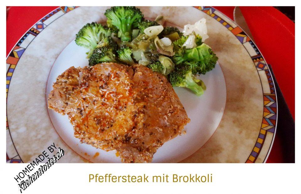 Pfeffersteak mit Brokkoli aus dem Monsieur Cuisine Plus