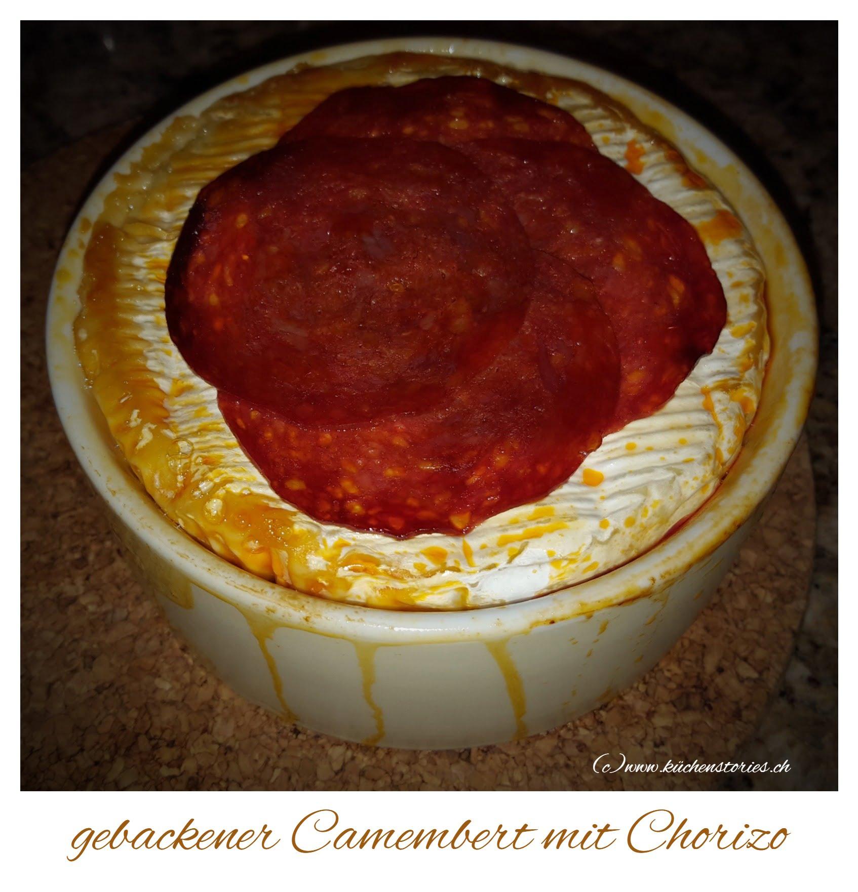 Gebackener Camembert mit Chorizo