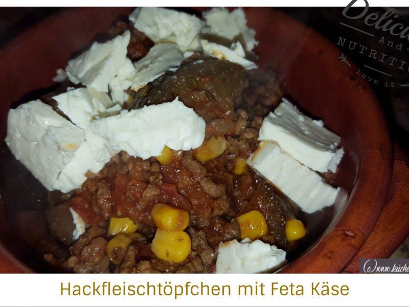 Hackfleischtöpfchen mit Feta-Käse