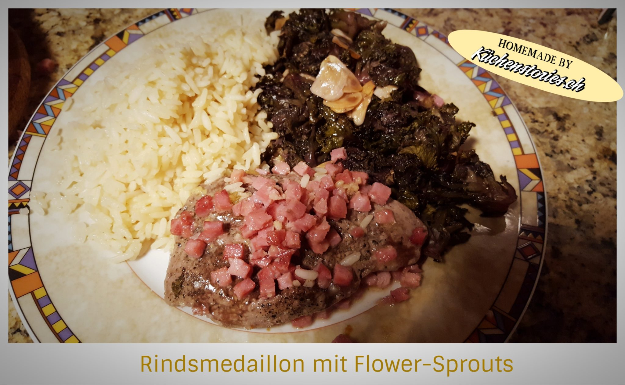 Rindsmedaillon mit Flower-Sprouts
