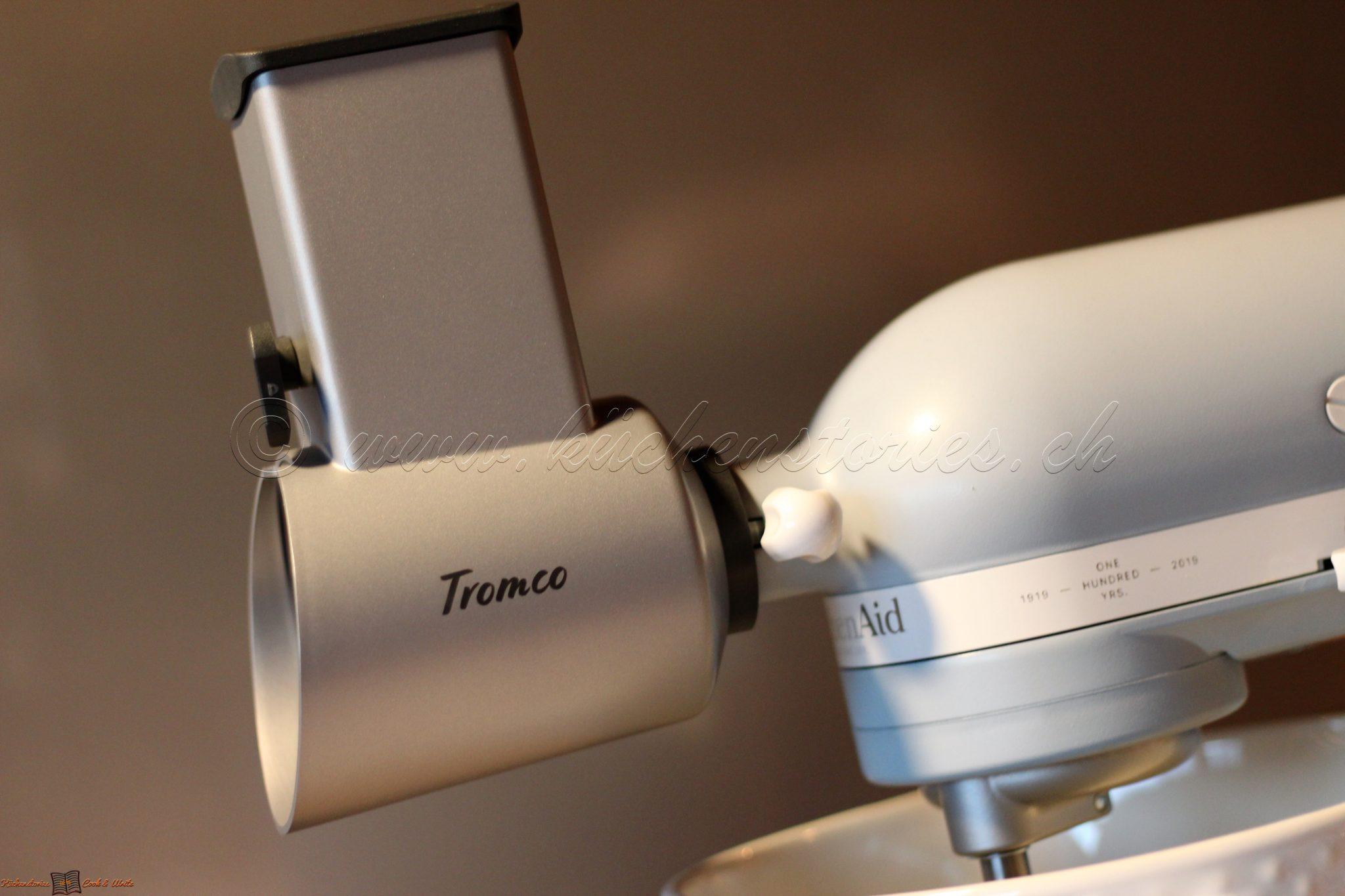 Tromco-Raffelvorsätze und Trommeln