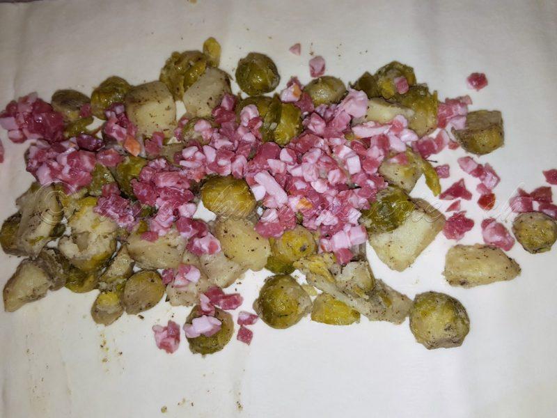 Rosenkohl-Kartoffelstrudel