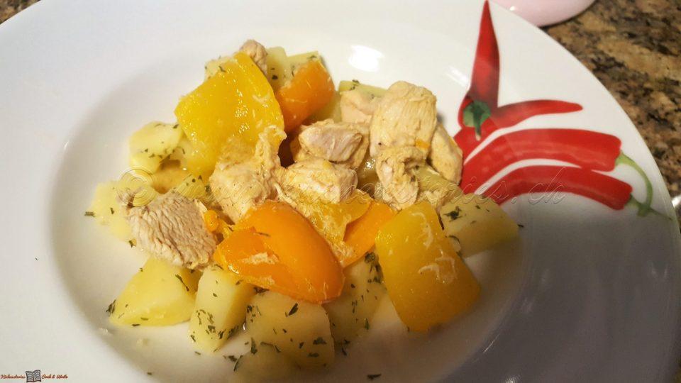 Two Pot mit Huhn und Kartoffeln