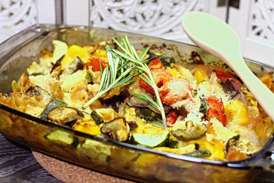 Gemüse-Pasta-Auflauf