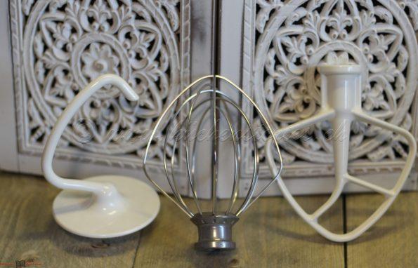 Verwendung von Schneebesen, Knethaken und Flachrührer von KitchenAid