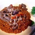 Scharfe Tortillas mit Knoblauch-Rindfleisch