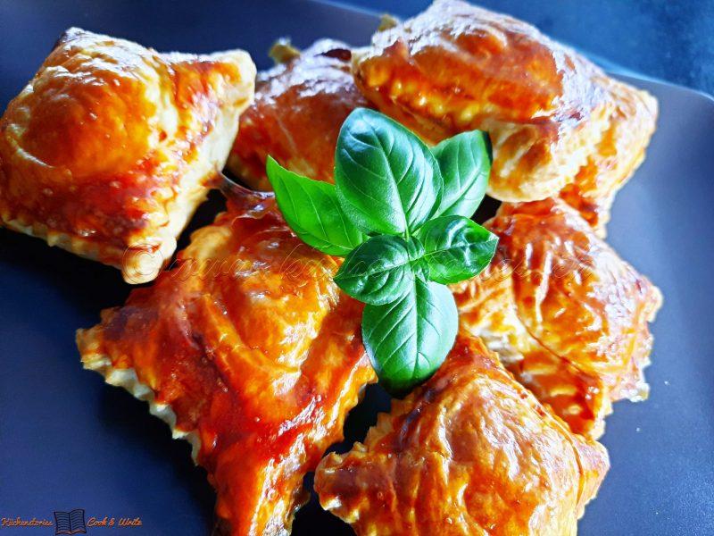 Blätterteig-Frischkäseravioli